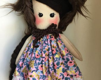 Handmade Ooak Doll / Art Doll / Heirloom Doll / Cloth Doll / Fabric Doll / Gifts for Baby / Nursery