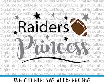 Raiders Princess SVG, Oakland Raiders svg, football svg cut file, silhouette cut file, cameo file, cricut, sports svg, png, cricut svg
