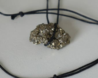 Iron Pyrite Gold Necklace | Natural Stone
