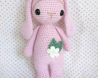 Crochet Rabbit Flower handbag/crochet Doll/rabbit Amigurumi