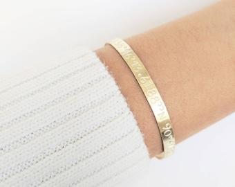Personalized Coordinates Bracelet - Custom GPS Coordinate + Location Bangle + Friendship Bracelet + Longitude + Latitude + Gift for her