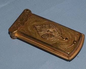 Victorian antique W Avery & son brass needle case