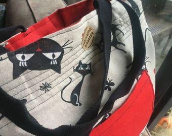 Tot bag pleated cat!