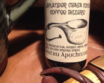 Laplander Chaga Cocoa Coffee Bitters 2 oz and 4 oz / spagyric / dual extract chaga / high grade cacao / coffee bitters // chaga tincture
