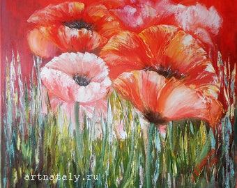 Printable flower poppy print, floral art print poppies, print red poppies art, floral art print poppy, poppies print red flower wall art