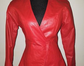 Vintage Wilsons Red Leather Jacket