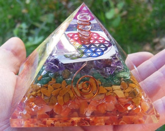 Flower of life Orgone Pyramid, Orgone Pyramid