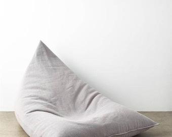 Lux Velvet Triangular Lounger Beanbag foam