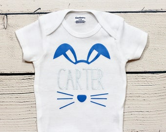 Easter bunny onesie | Personalized Easter shirt, Boy Easter outfit, Easter, My first Easter, First Easter shirt, Bunny, onesie, toddler