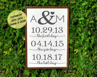 Personalized wedding gift for couple engagement-Monogram gift- gift for wife-bridal shower gift custom-bride from groom gift-wedding sign