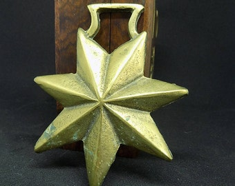 Horse Brass| Old Vintage Seven Pointed Star Horse Brass