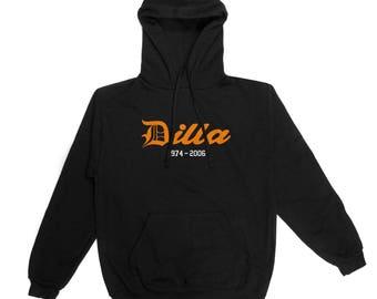 J Dilla legend hooded top in black sweatshirt hoodie