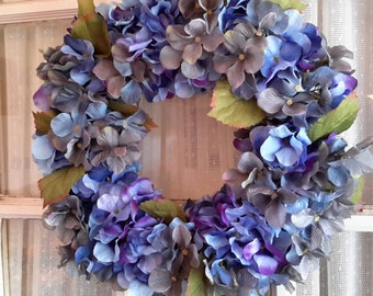 Blue Hydrangea Wreath All Seasons Door Wreath