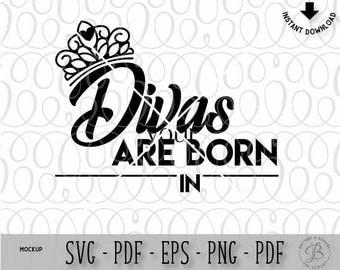 Birthday SVG, customizable svg, birthday cut files, diva svg, crown svg, svg files, svg files for cricut