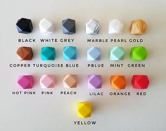 Lilly Custom Teething Necklace, Silicone Beads, BPA Free, Personalise, Baby Teething, Nursing