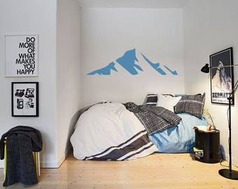 Mountain Wall Decal / Wall Decor / Mountain Sticker / Mountain Peak / Teen Room Wall Decal