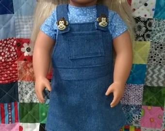 Jumper and Top for 18 inch Doll