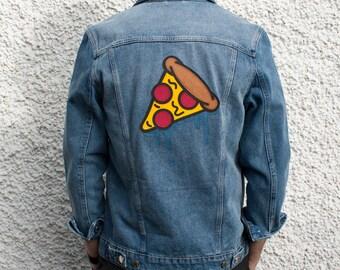Dripping Pizza Customized Denim Jacket Size M