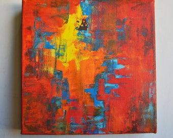 Abstract painting. Ready to hang..