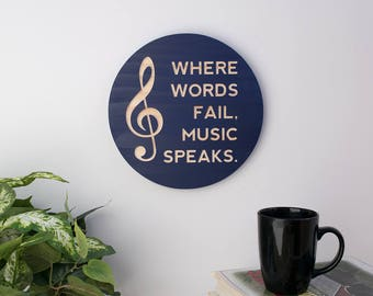Where Words Fail, Music Speaks Carving