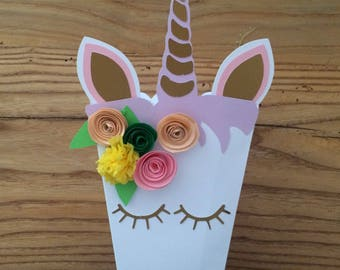 Unicorn-Unicorn party Box-set Flowers from Box 6 boxes Unicorn for popcorn and candy