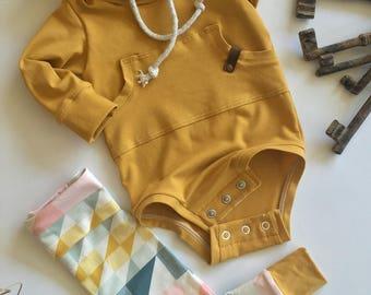 Baby hoodie, baby sweatshirt, gender neutral hoodie, bodysuit hoodie, modern baby clothing, baby gift ideas, infant hoodie