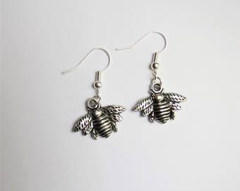 Bee earrings, bee jewellery
