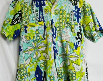 70's short sleeve blouse