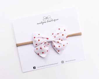 Valentines Day Bows | baby headband set, Baby bow Headband, Small Bows, Baby Bows, Newborn headbands, Nylon Headbands,Baby hair bows,