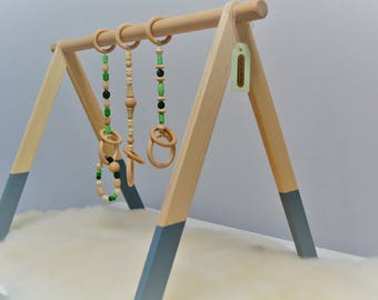 Montessori toy, Baby gym, Gray legs, Scandinavian gym,Baby fitness studio,Baby activity center,Wooden baby gym,Play gym, Activity arch