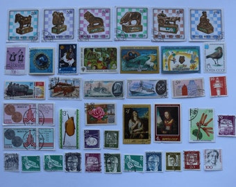 Set of 40 pcs Postal, Postage Stamp, Collecting, Philately # 16