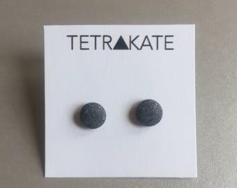 Grey Rock Stud Earrings | Speckled Grey Stud Earrings | Minimal Earrings | Geometric Stud Earrings | Simple Stud Earrings
