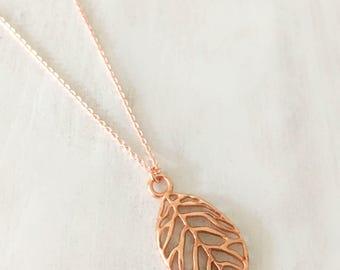 Chain Rosegold Leaf Leaf