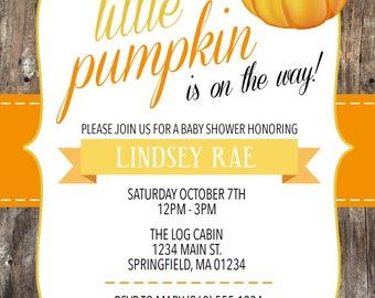 Our Little Pumpkin Baby Shower