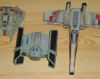 1995 SNOWSPEEDER X-WING Tie Fighter Vintage Star Wars The Empire Strikes Back Action Fleet Vehicle Model Spaceships