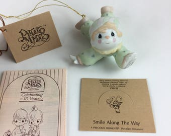 Vintage Precious Moments Smile Along The Way Miniature Ornamant Figurine 113964