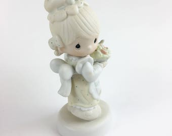 Vintage Precious Moments There Is Joy In Serving Jesus Figurine E-7157