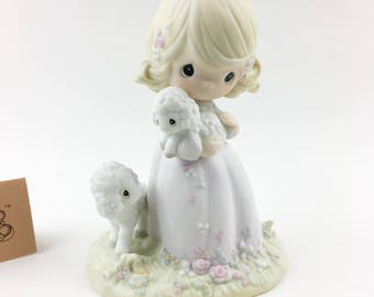 Vintage Precious Moments 1985 Membership Only  The Lord Is My Shepherd Figurine PM-851