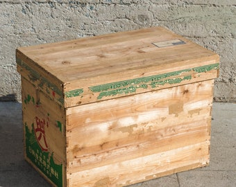 Vintage Tin Lined Japanese Wooden Tea Crate & Japanese tea box   Etsy Aboutintivar.Com