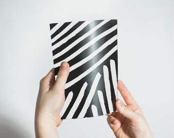 Black and White Notebook, sketchbook, notebooks, lined, unlined, small notebook, journal, Notepads, pocket notebook, blank notebook, diary