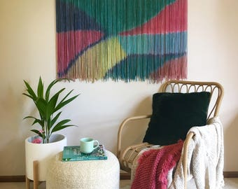 PRISM Tapestry/ Wall Art/ Fiber Fibre Art/ Wall Hanging/ Modern Macrame/ Wool Rope/ Wall Decor/ Large Abstract Art/ Moving Textured Canvas