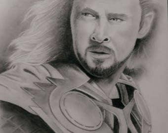Original Graphite and Charcoal Thor