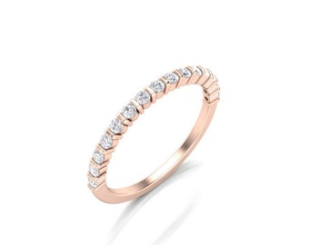 Women's Diamond Wedding Band - Diamond Channel Wedding Band - Round Diamond Band - 0.30 ct Diamond Weight