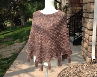 Crocheted  Poncho, free shipping