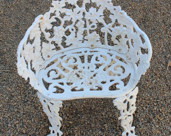 Old Rare,Antique,Vintage Heavy Cast Iron/Wrought Iron Patio Chair Part 29