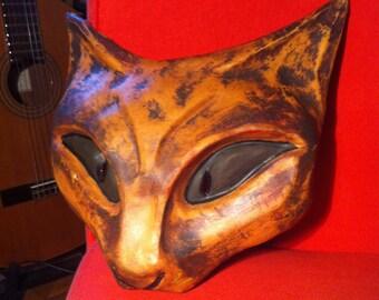 Masque de chat en Cuir Pierangelo Summa Leather Mask Cat