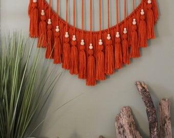 Burnt Orange Tassel Hanging