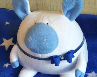 Funny pig soft fleece. Toy and pillow is a little piggy