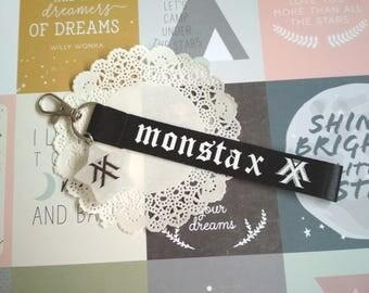 Monsta X kpop Keyring Strap Tag Keychain Holder Phone Strap, Monsta X Lanyard, star resin, accessories kpop, kpop logo