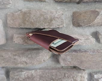 The Wraptor - Best Minimalist Wallet, Cash Strap, Alpha Leather Co, Front Pocket Wallet, Leather Card Wallet, Personalized Leather Wallet,